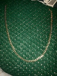 "Gold platted sterling silver cuban link 22.5"" chain. $60 or best offer"