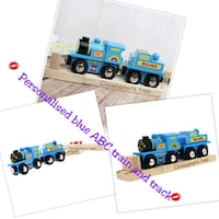 Personalised Blue ABC Train and Track Greater London, IG11 9JU