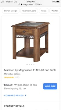 Magnussen End Table w Stone Inlay North Las Vegas