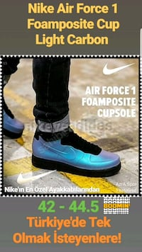 Nike Air Force 1 Foamposite Cup Light Carbon Bot Teşvikiye Mahallesi