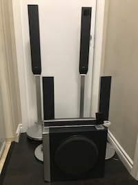 Sony S-Master Digital Amplifier 5-disc CD/DVD Home Threater System with 6 speakers including subwoofer, connection cables, remote control in good working condition Burnaby, V3N 5A9