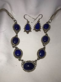 Lapis necklace and earrings  Herndon, 20170
