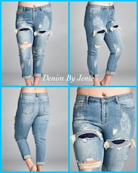 women's blue denim jeans Mesquite