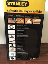 Black and gray shop-vac vacuum cleaner box 629 km