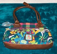 red and blue floral tote bag 957 mi