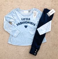 Toddler girl's velvet top and leggings size 2T- New with tags Mississauga, L5M 0C5