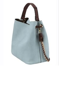 2 in 1 Soft Faux Leather Bag (LIGHT BLUE) Dallas