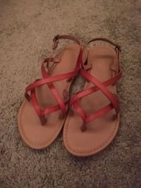 Leather Sandals Size 6 Beverly, 01915