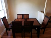 Solid Teak Expandable Dining Table +  6 chairs Milton, L9T