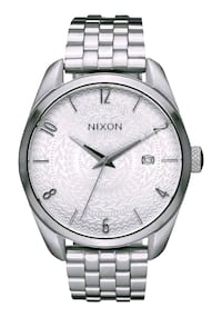 round silver-colored analog watch with link bracelet Richmond Hill, L4C