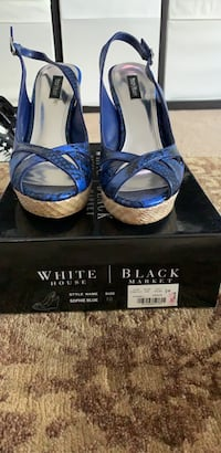 White House Black Market peep toe sandals
