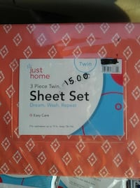 3-piece Just Home twin sheet set pack Fairfax, 22031