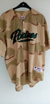 MAJESTIC ATHLETIC BASEBALL AUTHENTIC PADRES GREENE JERSEY IN CAMO
