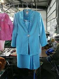 Turquoise skirt with jacket Memphis, 13112