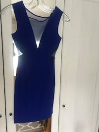 Blue dress with see through mesh size XS Toronto, M9N 2Z5