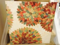 red and brown floral painting Dacula, 30019