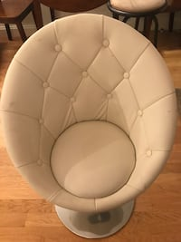white leather tufted sofa chair New York, 10004