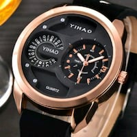 Fashion Stainless Steel Leather Men's Military Spo London, N6P 0E2