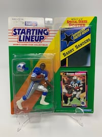 Vintage Detroit Lions/NFL Legend Barry Sanders STARTING LINEUP ACTION FIGURES (1) [Brand New] Washington, 20016