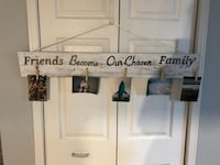 Friends/family rustic handmade wooden sign