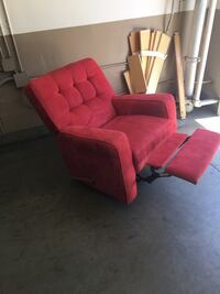 Red sofa recliner chair free Delivery Los Ángeles, 90021