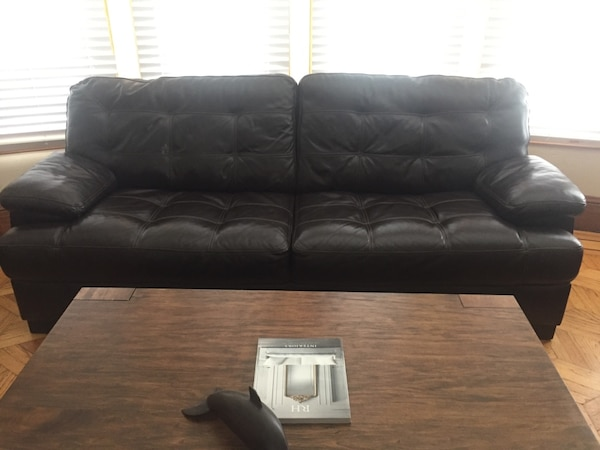 Used Espresso Leather Couch For Sale In San Clemente Letgo