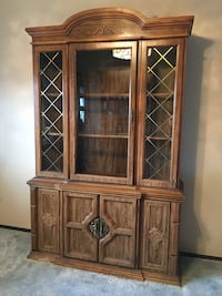 brown wooden framed curio cabinet Springfield, 22151