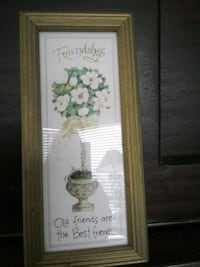 Friendship picture gold frame