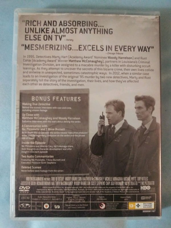 True Detective season 1 dvd 1