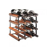 Brown wooden wine rack (wine not included) Hamilton, L9A