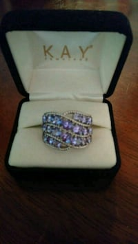 Sterling silver and Amethyst ring from Kay jeweler Fort Smith, 72901