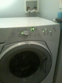 Washer wirlpool front loader and kenmore dryer