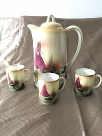 Beautiful Tea pot and 3 small mugs Laval, H7W