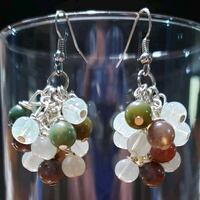 'Mixed Jade' Grape Cluster earrings Midwest City