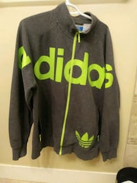 gray and green Adidas zip-up jacket Kelowna, V1Y 1B4