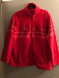 Size 1X red zip up fleece jacket Edmonton