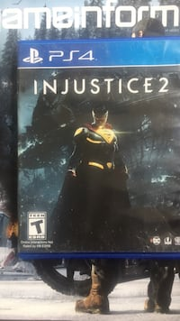 Injustice 2 PS4 game case Tallahassee, 32305