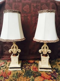 "Cute set of fleur-de-lis lamps (19"" tall) Bossier City, 71112"