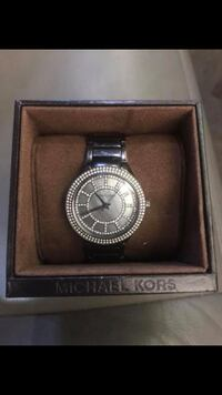 Round silver michael kors chronograph watch with link bracelet Easley, 29642