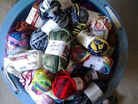 assorted colored textiles