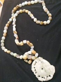 white and brown beaded necklace Washington, 20009
