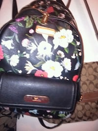 black and brown floral leather backpack Tulsa, 74135