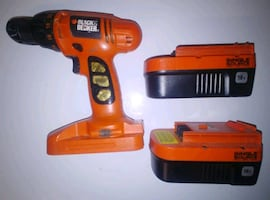 Black and Decker cordless drill + 2 free batteries (no charger)