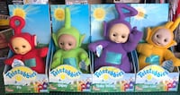 Talking Teletubbies - Po, Dipsy, Las-Laa and Tinky Winky. All new condition, never been removed from original boxes. Kept in closet for 20 years. VINTAGE Hesperia, 92345