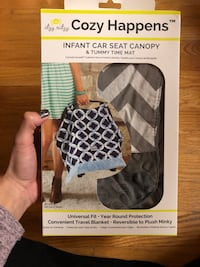 Itzy Ritzy Car Seat Canopy & Tummy Time Mat Campbell Hall, 10916