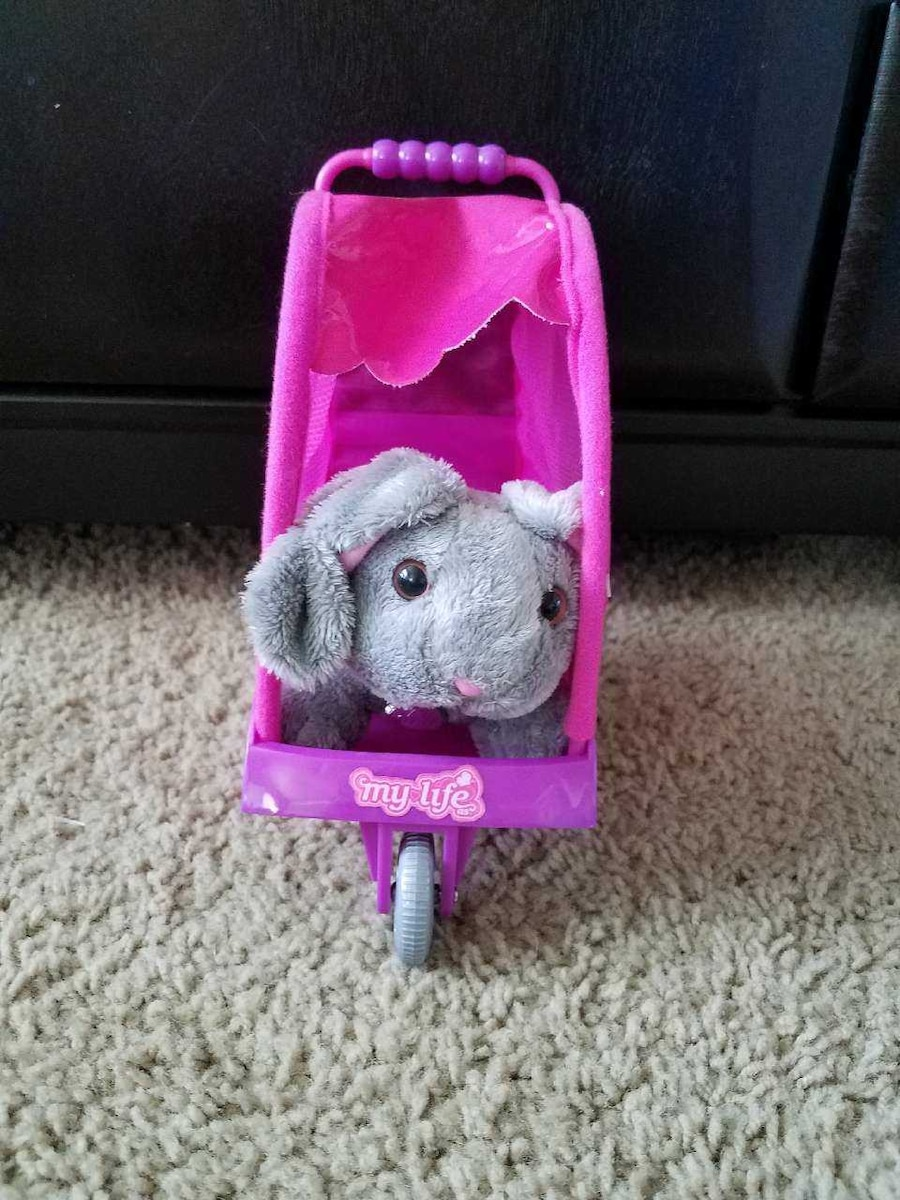 Doll animal stroller with bunny  - Meridian