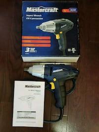 New Mastercraft 3.5 A Corded Impact wrench $40 Ajax, L1S