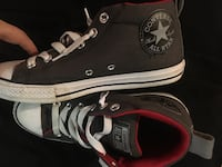 Pair of black converse all star high-top sneakers 40 km