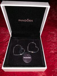 Pandora Heart Hoop Earrings