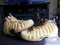 pair of beige Nike Air Foamposite One shoes Carson City, 89701